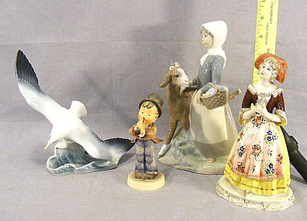 8Z: Lot figurines including Rosenthal seagull, Hummel w