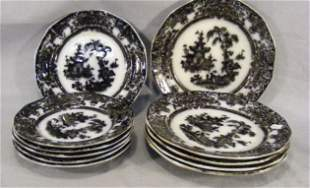"""Corean mulberry, 5 - 9.75"""" plates, 5 - 7.75"""" plate"""