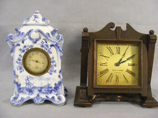 23P: China case New Haven clock together with Seth Thom