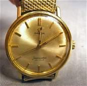 123Q: Omega men's wristwatch, Seamaster De Ville. Runs.