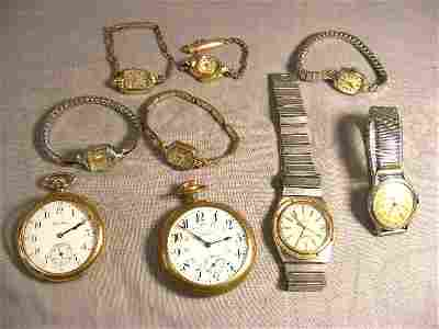 124Q: Collection of watches, men's quartz Omega (missin