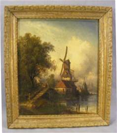 148P: Oil painting / canvas by Hermann Bennekenstein