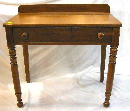"""175D: Antique pine writing desk, 33"""" high, 34"""" long"""
