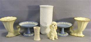 Lot including pair of Wedgwood Queen's Ware compote
