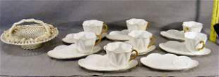 Lot of 7 Shelley cups & 8 saucers together with Bel