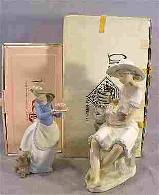 Two Nao figurines mint in box, Puppy's Birthday an