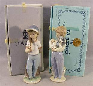 2 Lladro collectors society figurines, mint in box