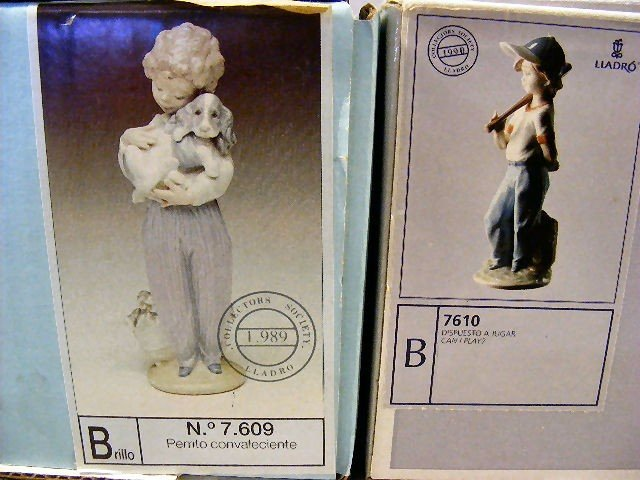 13Q: 2 Lladro collectors society figurines, mint in box - 4