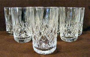 "8 Waterford crystal tumblers - 4 5/8"" high"