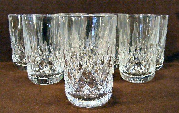 "18U: 8 Waterford crystal tumblers - 4 5/8"" high"