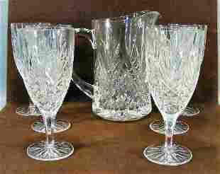 """Lot of 6 pressed glass 7.5"""" goblets and 8.5"""" pitch"""