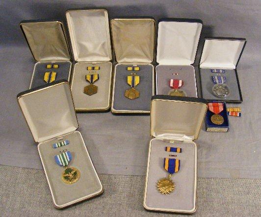 88A: Military merit medals, 8pcs w/ boxes.