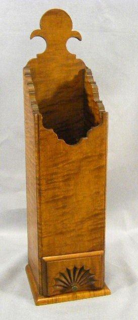 "4D: Eldred Wheeler tiger maple pipe box, 16.5"" high, fa"