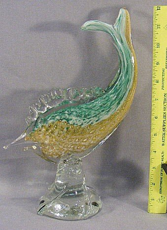 5D: Murano glass fish, excellent condition, no marks, 1