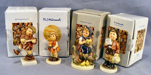 19H: Lot of four Hummel figurines, mint in box.