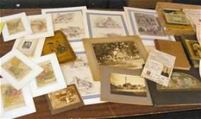 262H Lot of paper ephemera photos books etc includ