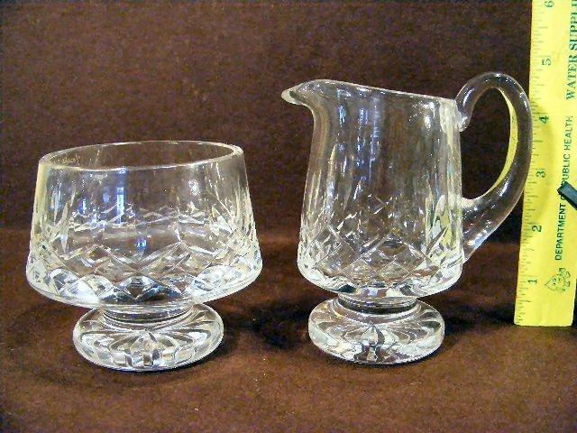 1A: Waterford creamer & sugar bowl