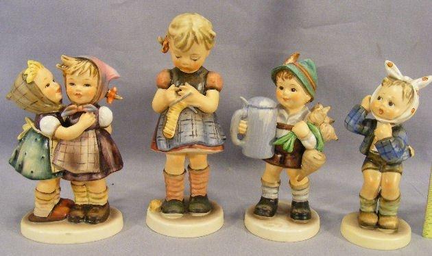 11M: Lot of four Hummel figurines, excellent condition,