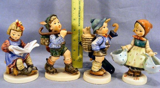 12M: Lot of four Hummel figurines, excellent condition,