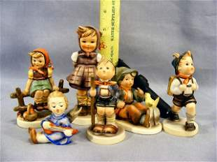 Lot of six Hummel figurines, excellent condition,