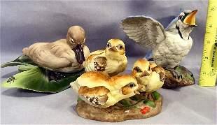 Lot of 3 Boehm bisque porcelain figurines, Fledgli