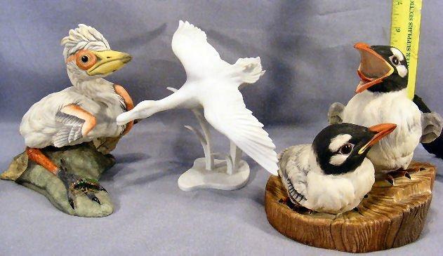 21G: Lot including 2 Boehm figurines, Bonaparte's Gulls