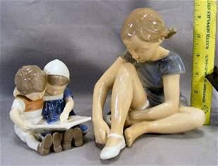 Bing & Grondahl figurine #1567 boy and girl readin