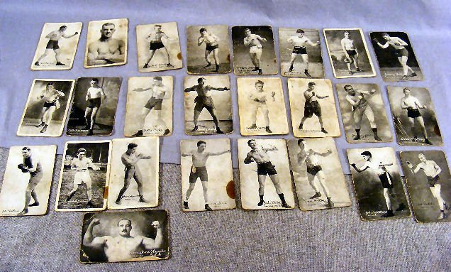 220V: Collection of Boxing postcards, 25pcs. Circa 1920
