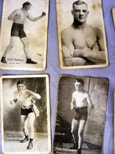 220V: Collection of Boxing postcards, 25pcs. Circa 1920 - 2