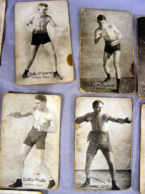 220V: Collection of Boxing postcards, 25pcs. Circa 1920 - 3