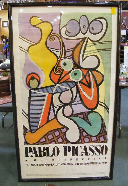 250X: Picasso poster, Museum of Modern Art 1980. Very g