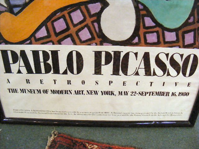 250X: Picasso poster, Museum of Modern Art 1980. Very g - 3