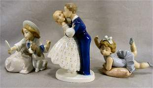Two Lladro figurines of children and Bing & Grondah