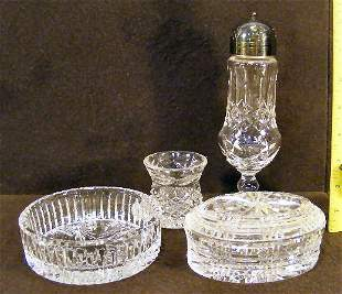 Lot of Waterford crystal including muffineer with s