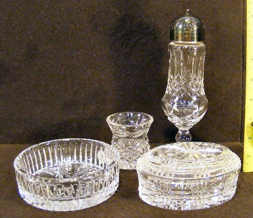 6X: Lot of Waterford crystal including muffineer with s