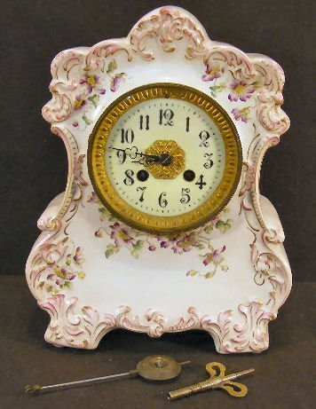 10X: China case clock with French Marti movement, case