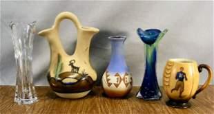 Signed Southwest native American styled pottery va