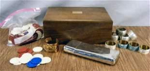 Misc. lot including cigar humidor, cigar case, Jac