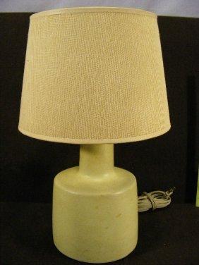 "Modern Design Lamp, Signed Martz, 9.5"" High To Top"