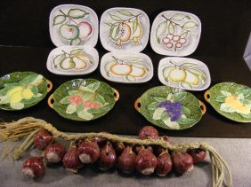 """Lot Including 6 - 7.5"""" Square Dishes Made In Italy"""