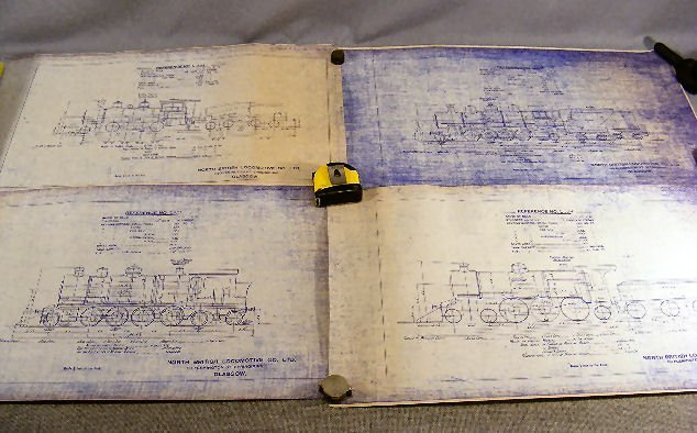 52Y: Lot of approx. 38 blueprints of train locomotives,