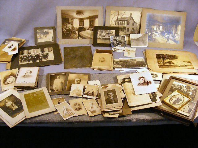53Y: Large lot of mostly 19th century photographs, port