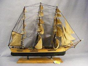 "Ship Model Of The Flying Cloud, 35"" Long & 27"" Hig"