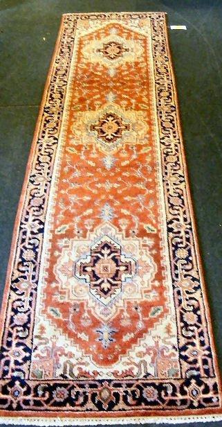 "56P: Oriental rug, Serapi runner, 2'7"" X 10', excellent"