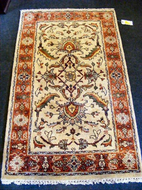 """57P: Oriental rug, Zeiglar Mahal, 3' X 5"""""""