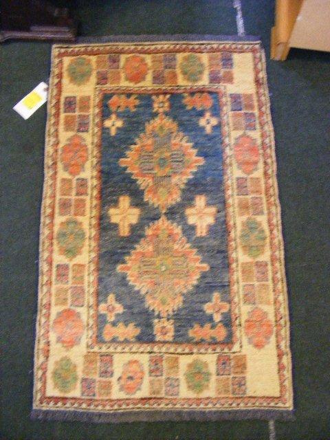 """58P: Oriental rug, Uzbek Kazak, 2' X 3'3"""""""