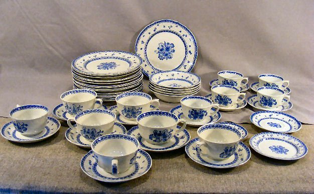 64D: Arabia Finland Blue Flower china including 16 - 9.