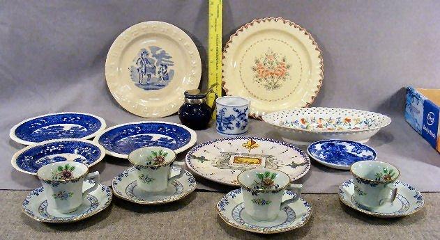 84D: Misc. lot of pottery & porcelain including ABC pla