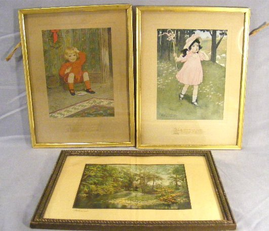 2G: Two early 20th century children's prints, Little Bo