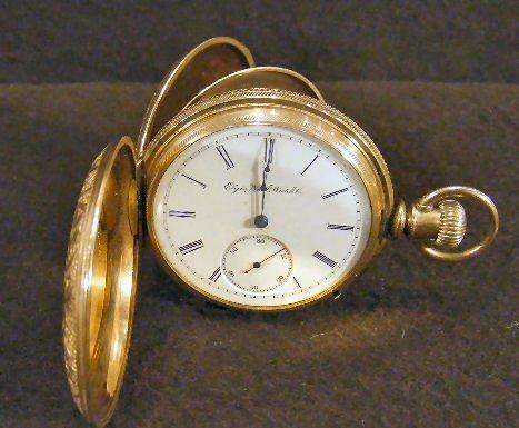 7Z: Elgin National gold filled pocket watch, not runnin